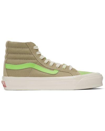 Wysoki sneakersy białe skórzane Vans