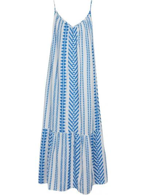 Синее хлопковое платье миди Velvet
