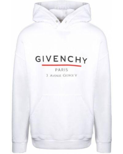 Bluza z nadrukiem z printem - biała Givenchy