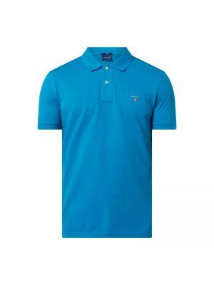T-shirt bawełniana - turkusowa Gant