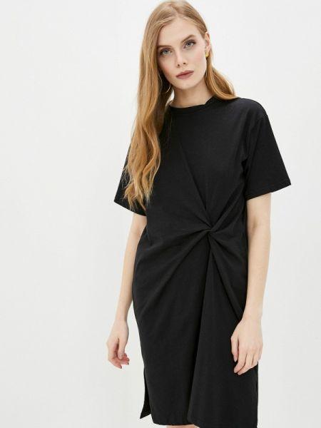 Платье футболка черное Befree