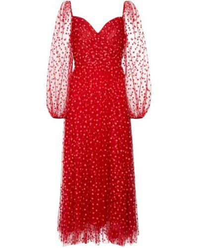 Шелковое платье миди Monique Lhuillier