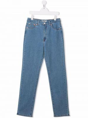 Niebieskie klasyczne mom jeans Levis Kids