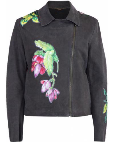 Кожаная куртка с карманами с аппликациями Blumarine