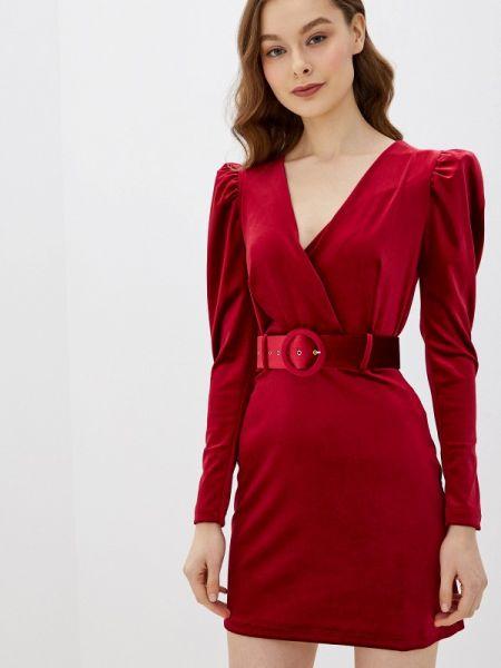 Вечернее платье красный бордовый Rinascimento