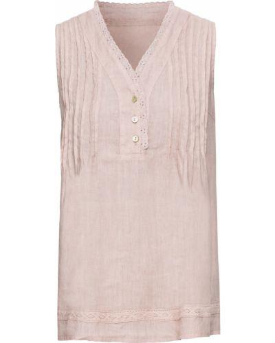 Блузка на пуговицах льняная Bonprix