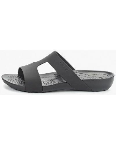 Сланцы пляжные черные Crocs