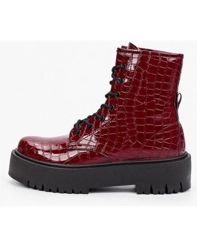 Кожаные ботинки - красные Topshop