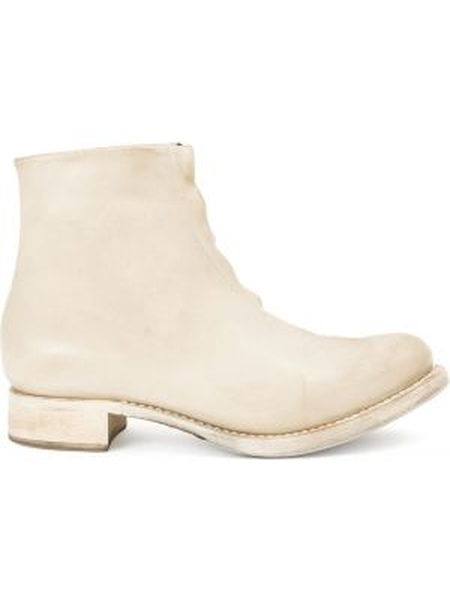 Белые кожаные кожаные ботинки Cherevichkiotvichki
