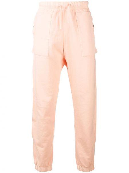 Różowe spodnie bawełniane miejskie Stone Island Shadow Project