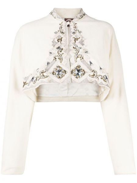 Шелковый удлиненный пиджак с воротником с подкладкой A.n.g.e.l.o. Vintage Cult
