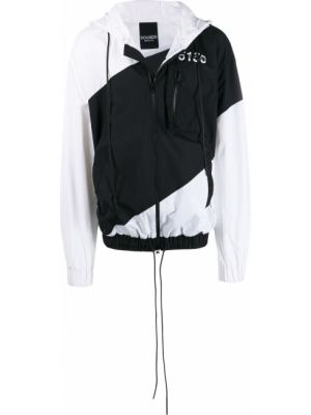 Czarna kurtka z kapturem z nylonu Bmuet(te)