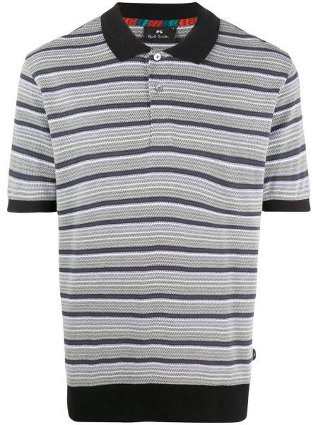 Koszula krótkie z krótkim rękawem klasyczna w paski Ps Paul Smith