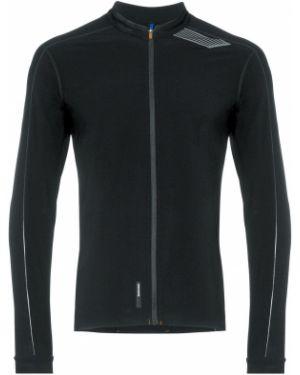 Черная спортивная футболка на молнии Soar