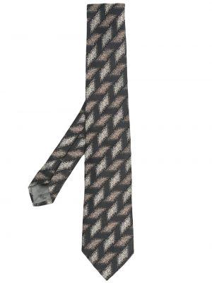 Серая шелковая резинка для волос с нашивками Emporio Armani