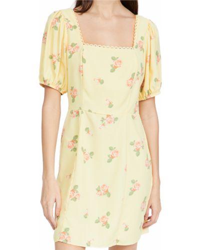 Текстильное кружевное платье мини с декольте Glamorous