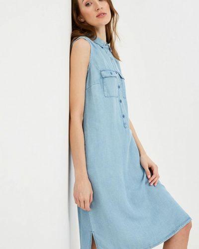 Джинсовое платье весеннее голубой Sela