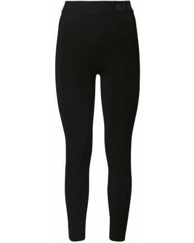 Z wysokim stanem czarny legginsy elastyczny z wiskozy Givenchy