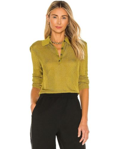 Облегающее текстильное зеленое поло Rag & Bone