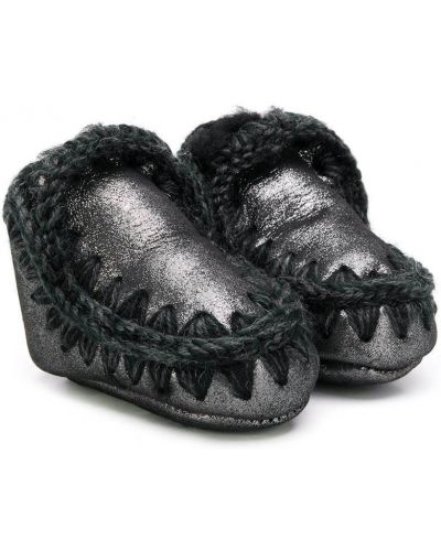 Черные кожаные угги Mou Kids