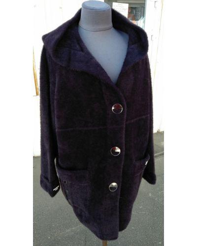 Пальто из альпаки - фиолетовое Rozetka