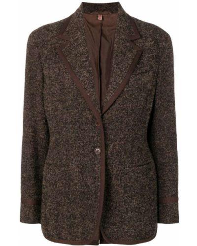 Черная куртка с манжетами Romeo Gigli Pre-owned