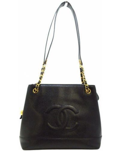 Czarna torba na ramię Chanel Vintage