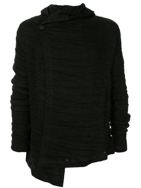 Нейлоновая черная куртка с капюшоном на пуговицах круглая Forme D'expression
