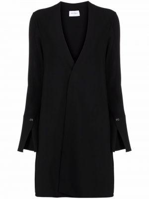 Черное длинное пальто Salvatore Ferragamo