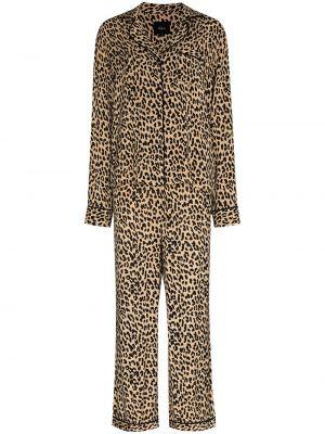 Черная пижама с карманами из вискозы Rails
