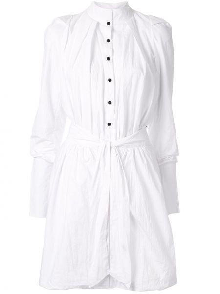 Расклешенное платье миди с воротником двустороннее Kitx