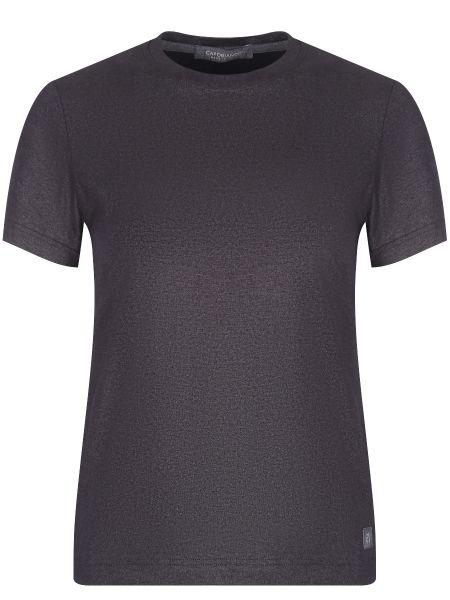Хлопковая серебряная футбольная футболка с круглым вырезом Capobianco