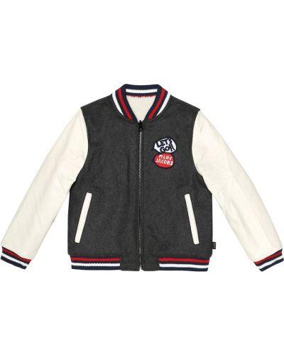 Спортивная куртка черная с подкладкой Little Marc Jacobs