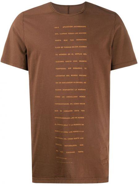 Koszula krótkie z krótkim rękawem prosto z nadrukiem Rick Owens Drkshdw