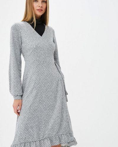 Платье серое с запахом Ribbon
