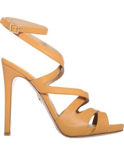 Желтые босоножки на каблуке Giorgio Fabiani