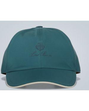 Бейсбольная хлопковая зеленая шляпа с вышивкой Loro Piana