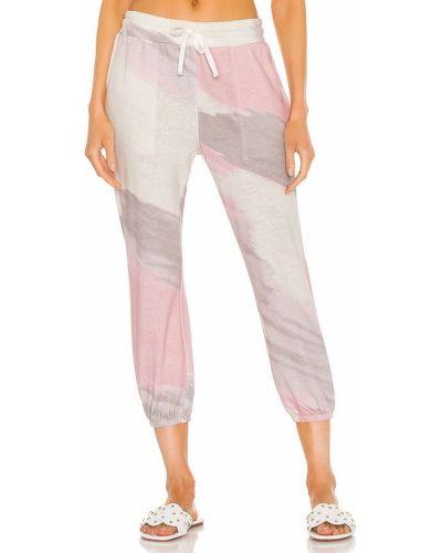 Klasyczne różowe joggery bawełniane Splendid