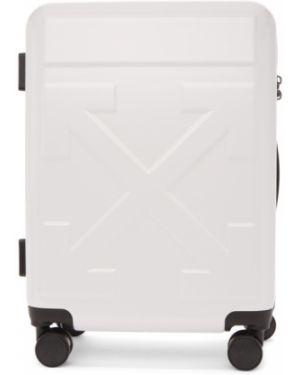 Droga torba biały z zamkiem błyskawicznym Off-white