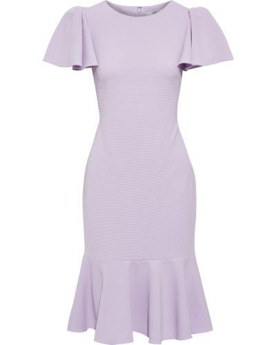Текстильное фиолетовое платье на крючках Badgley Mischka