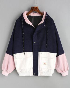 Куртка вельветовая - синяя Zaful