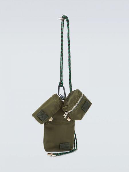 Zielona torebka z nylonu Sacai