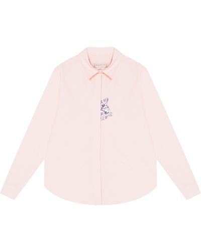 Блузка розовая с вышивкой Paul & Joe Sister