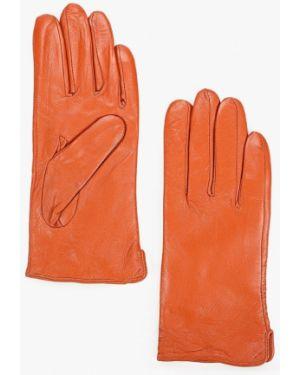 Кожаные перчатки оранжевые Pur Pur