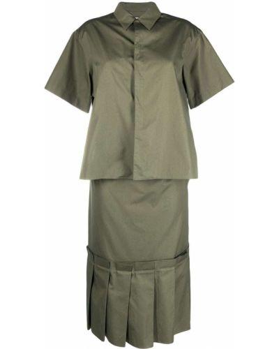Хлопковое платье миди - зеленое Marni