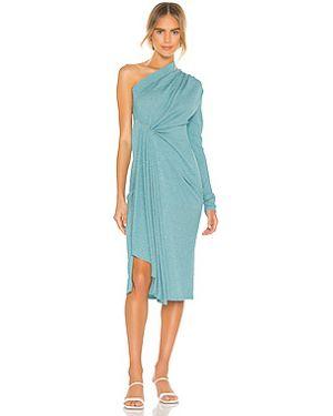 Платье с декольте в рубчик на резинке с оборками Dodo Bar Or