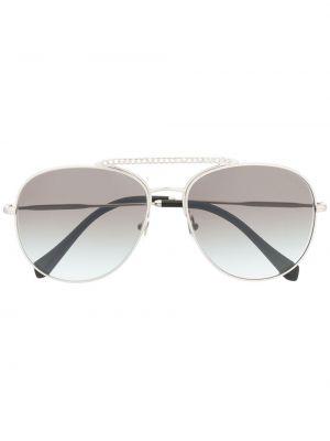 Серебряные солнцезащитные очки Miu Miu Eyewear
