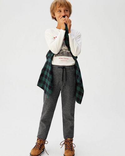 Spodnie wełniany z obrazem Mango Kids