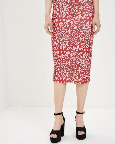 Красная юбка облегающая Lost Ink.