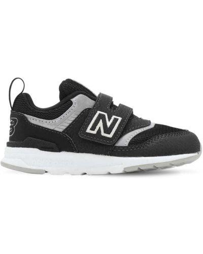 Czarny sneakersy z wkładkami z prawdziwej skóry na hakach New Balance